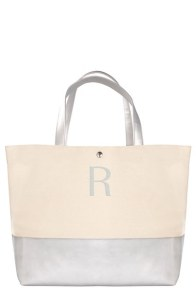 Monogram Canvas Tote - Silver