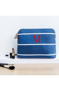 Monogram Cosmetics Case - Blue